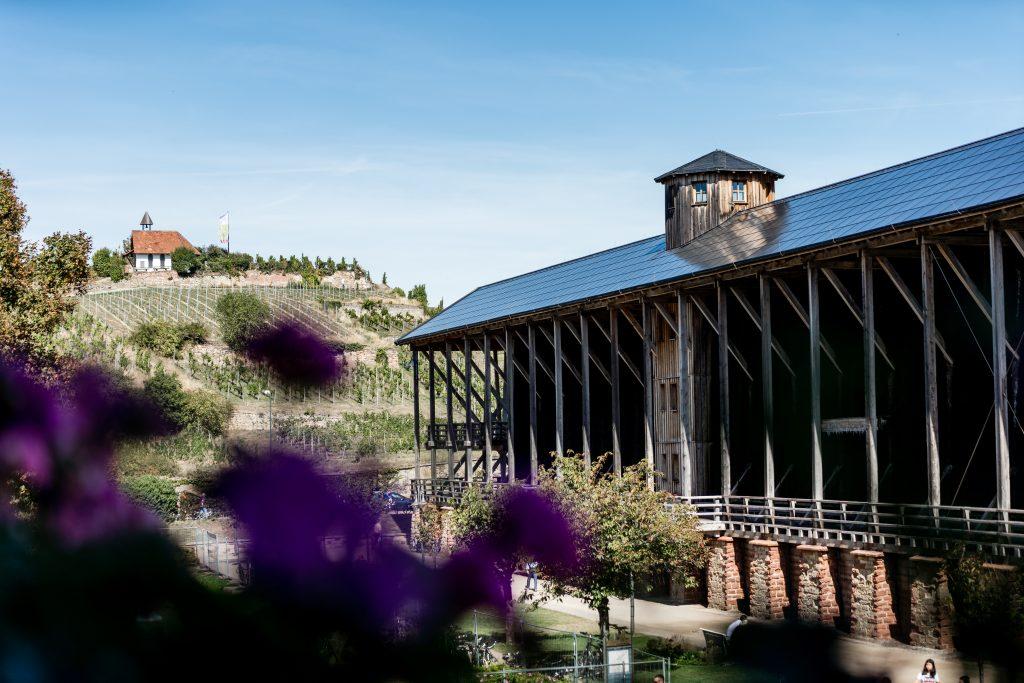 Saline Bad Dürkheim mit Solarpanelen